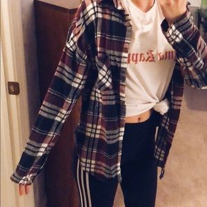 Brandy Melville Red/Black/White Flannel